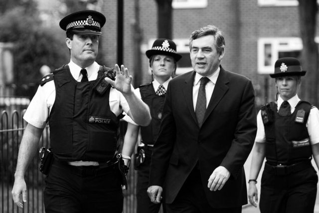 Brendan O'Brien with Prime Minister Gordon Brown